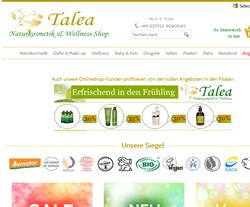 Talea-Naturkosmetik Gutscheine März 2018