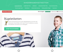Kinder Namensetiketten Gutscheine März 2018
